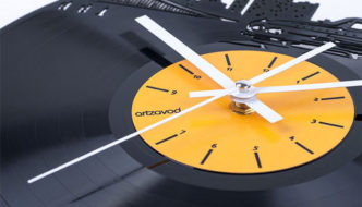 ArtZavold designs unique clock collection made of old vinyl records