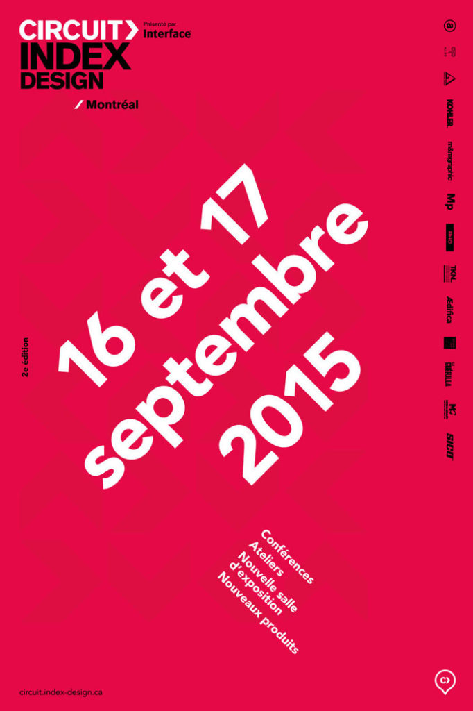 Circuit Index-Design 2015 Official Poster - Montreal, Canada