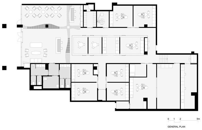 Pedra Silva Arquitectos Designs High-end Dental Clinic in Sydney - Plan