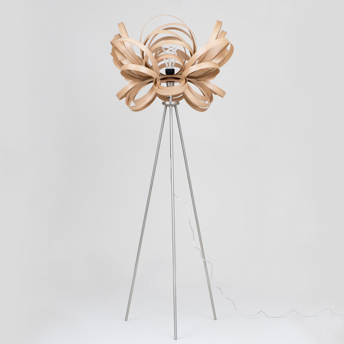 Butterfly Floor Lamp by Tom Raffield