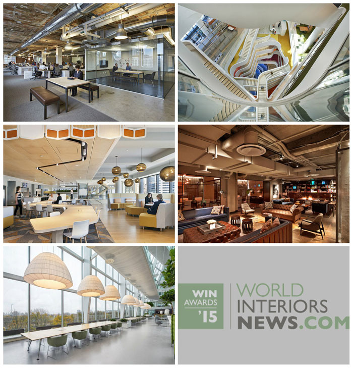 World Interiors News Awards 2015 - Workspace Interiors Greater Than 10,000 SQ. M Category Shortlist