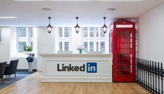 LinkedIn brand intertwined with the vibe of London life
