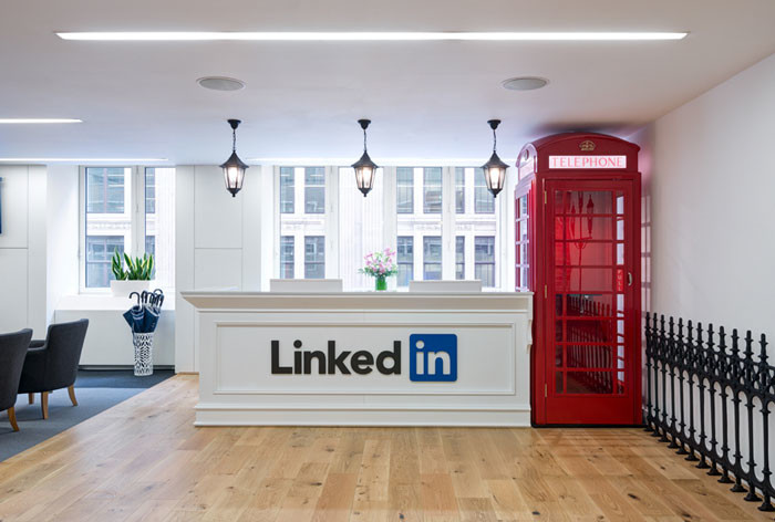 LinkedIn London's office design by Denton Associates