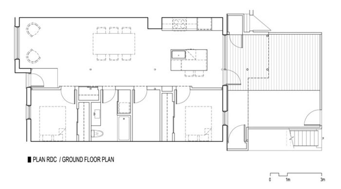 867 De Bougainville apartment by Bourgeois / Lechasseur Architects - Plan