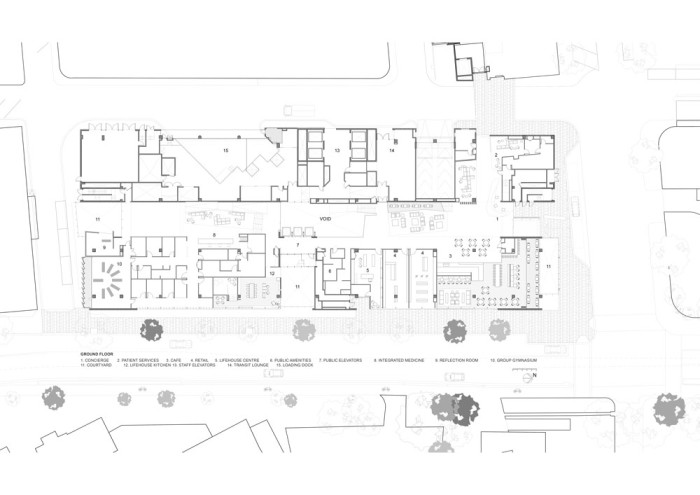 Chris O'Brien Lifehouse by HDR Rice Daubney Ground Plan