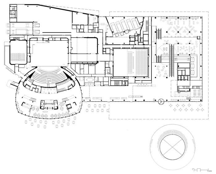 Library of Birmingham by Mecanoo - Ground Floor Plan