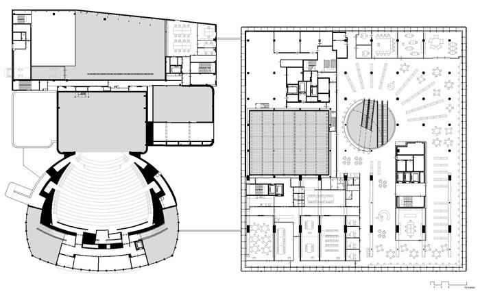 Library of Birmingham by Mecanoo - Level 1 Plan