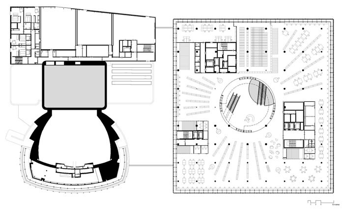 Library of Birmingham by Mecanoo - Level 2 Plan