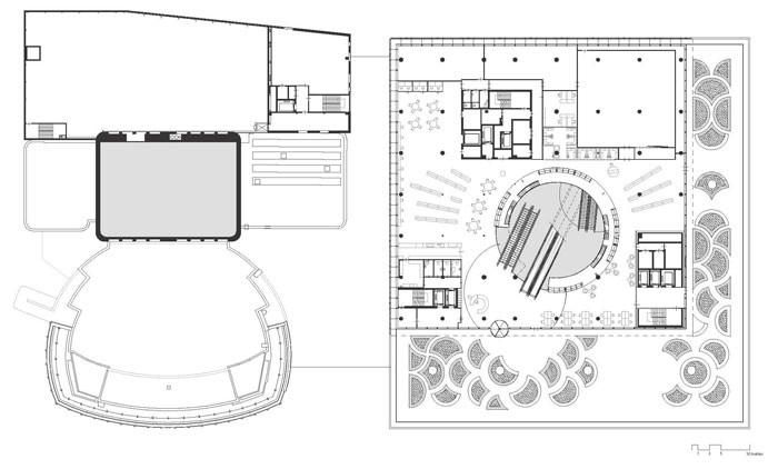 Library of Birmingham by Mecanoo - Level 3 Plan