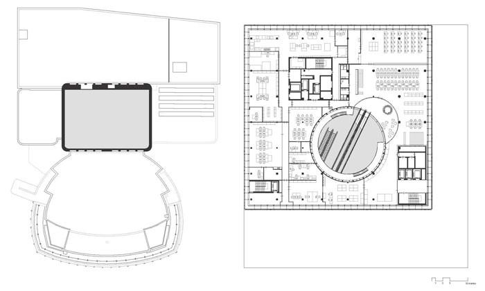 Library of Birmingham by Mecanoo - Level 4 Plan