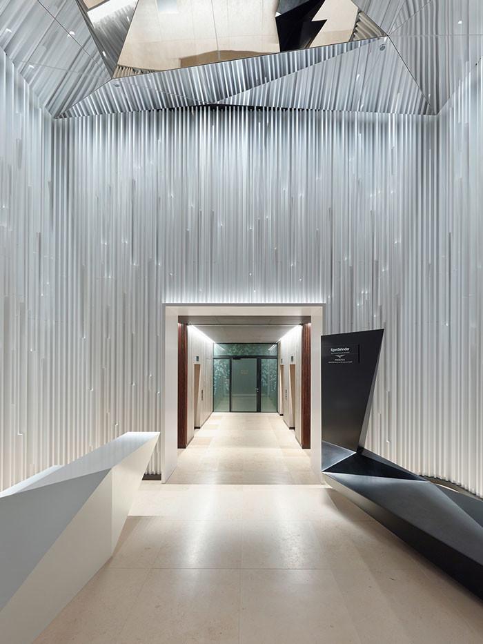 ippolito fleitz designs sculptural lobby design chronicle