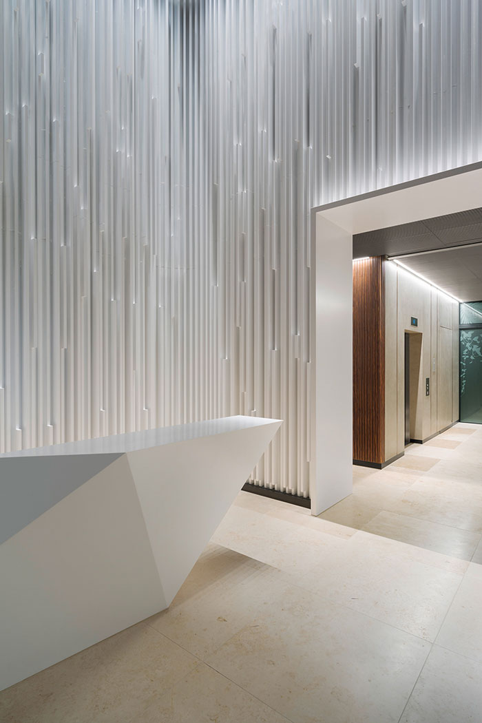 Ippolito Fleitz Designs Sculptural Lobby Design Chronicle
