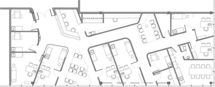 Uniprix Centre Médical by Jean de Lessard - Plan
