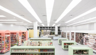 Uniprix Pharmacy by Jean de Lessard