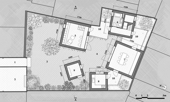 House for Trees by Vo Trong Nghia Architects - Ground Plan