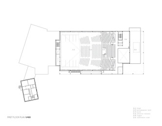 Mont Laurier Multifunctional Theatre by Les architectes FABG - First Floor Plan