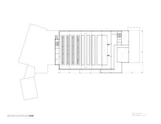 Mont Laurier Multifunctional Theatre by Les architectes FABG - Second Floor Plan
