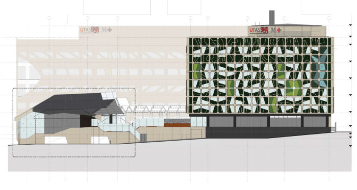 North Elevation - Medical Science 2 of University of Tasmania by Lyons