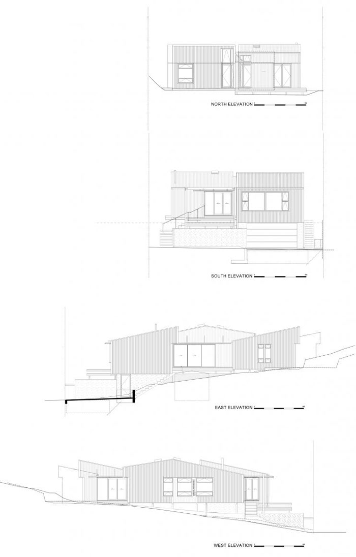 offSET Shed House by Irving Smith Jack Architects - Elevations