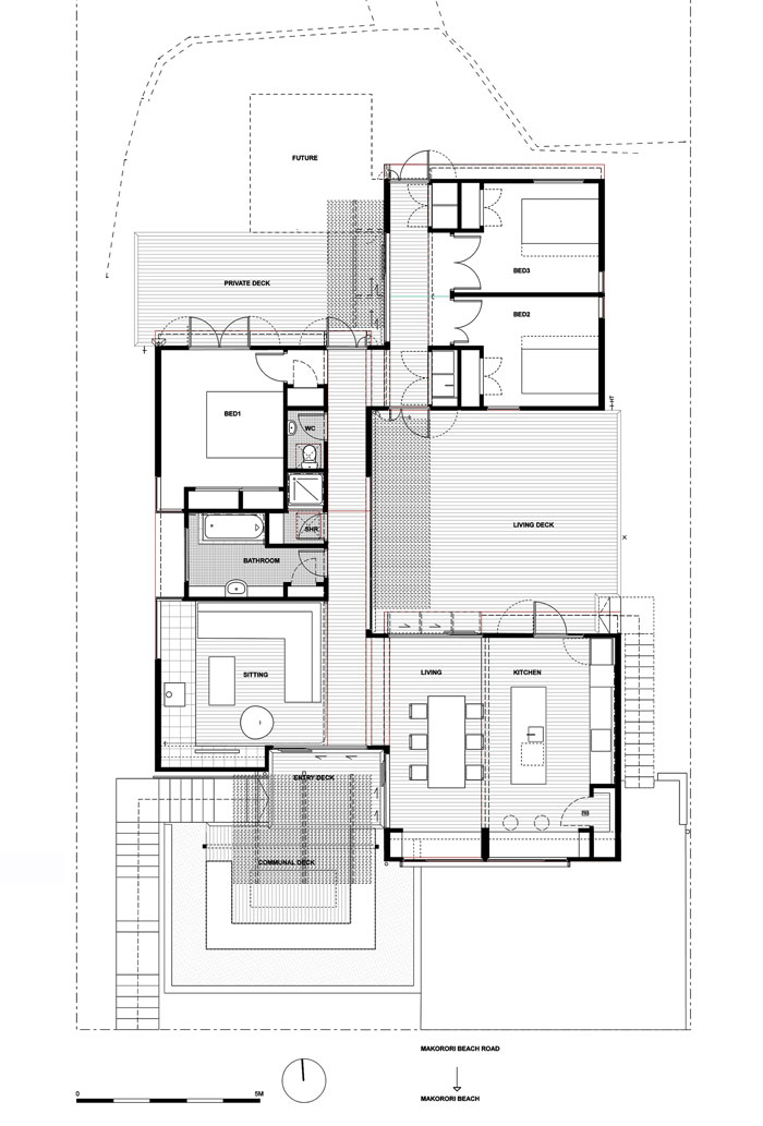 offSET Shed House by Irving Smith Jack Architects - Plan