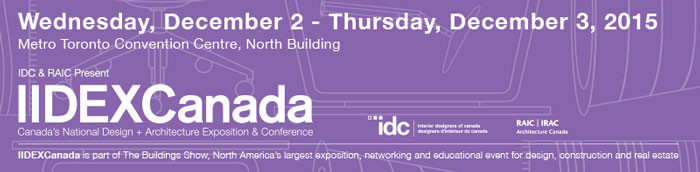 IIDEXCanada 2015 Focuses on the Future of Design