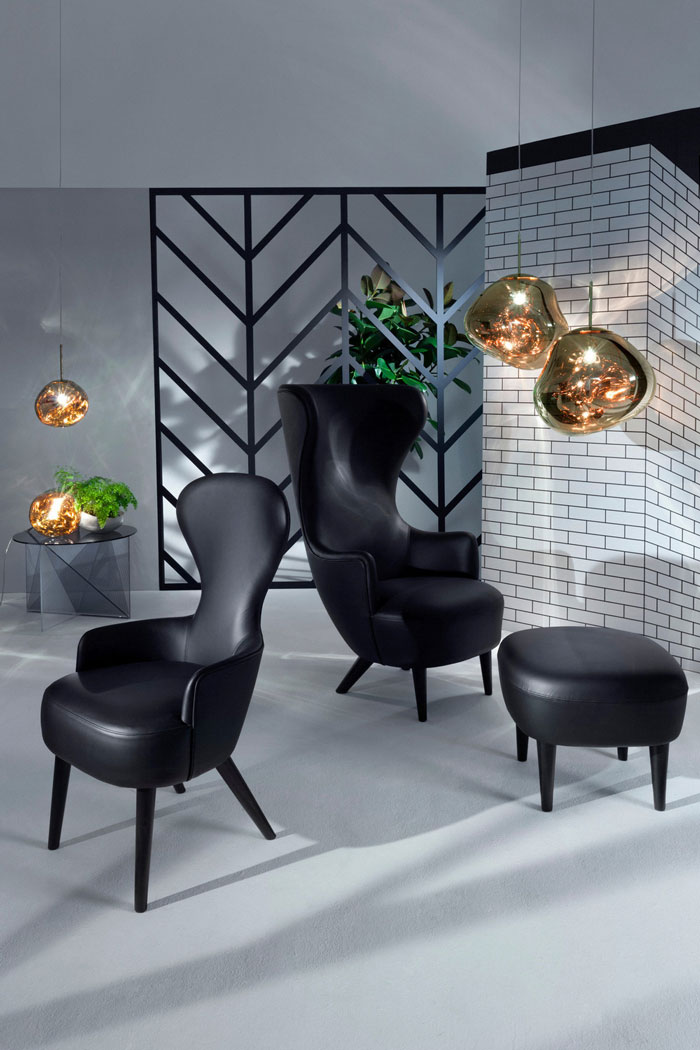 Leather Wingback and Melt by Tom Dixon