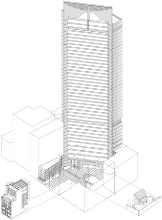 Liberty Place by Francis-Jones Morehen Thorp - drawing