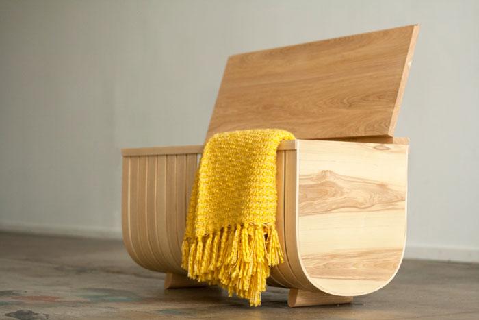 Fluyt Bench by Willow & Stump Furniture Design