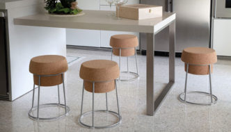 Bouchon Stool by Radice Orlandini Design Studio for Domitalia