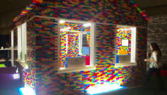 Brick for Brick - Habitat for Humanity - Life-sized Mega Blok house at IDS16