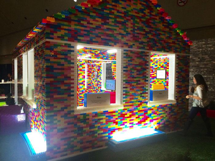 Brick for Brick - Habitat for Humanity - Life-sized Mega Blok house at IDS16