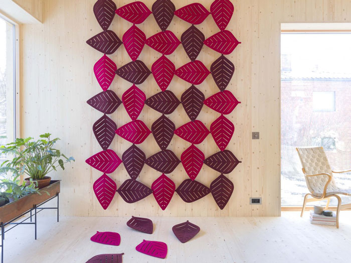 Airleaf sound-absorbent panels by Stefan Borselius for Abstracta