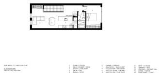 François-René project by Maître Carré & Architecture Open Form - 3rd Floor Plan