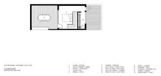 François-René project by Maître Carré & Architecture Open Form - Mezzanine Floor Plan