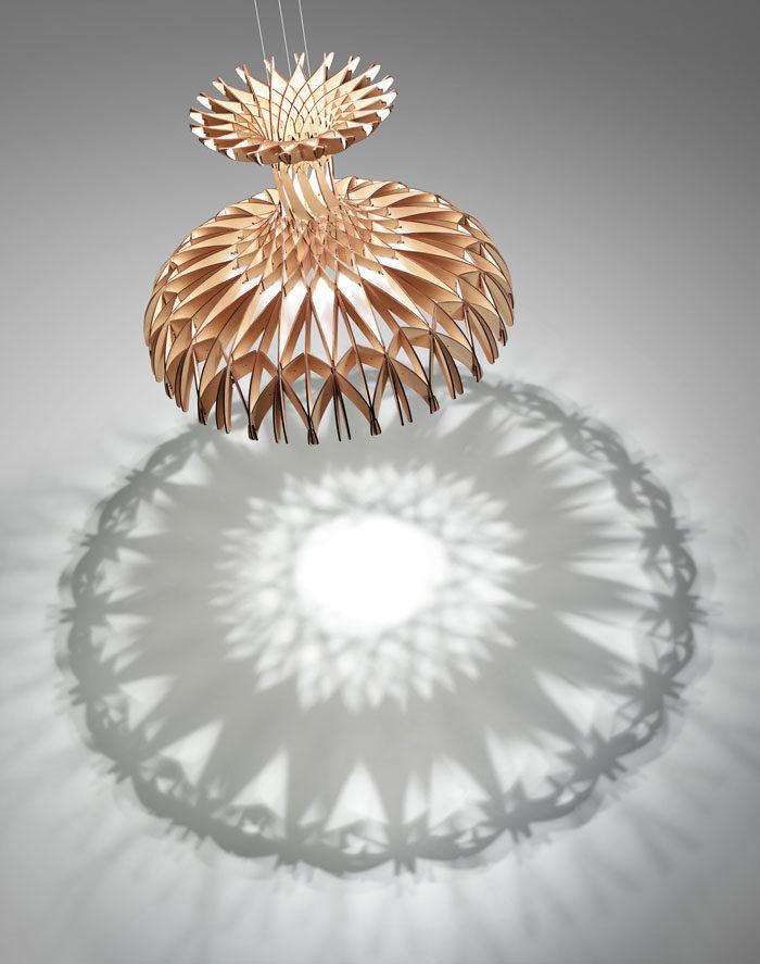 Benedetta Tagliabue designs sculptural pendant for Bover