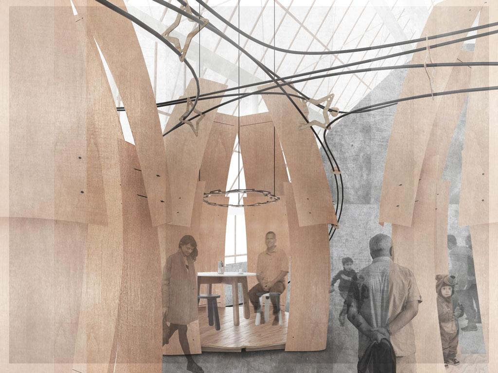 Ontario Wood exhibit for IDS2018 - Denagri Bessai Studio